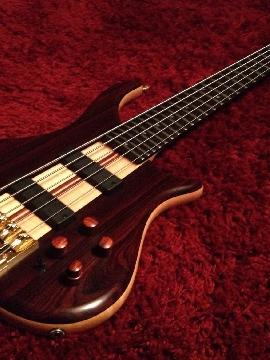 2006 Pedulla Et5 Thunderbass Cocobolo with Hardshell Case - 5 String Neckthrough