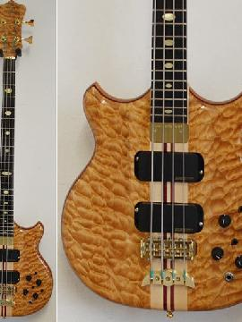 Alembic Stanley Clarke Standard 4 Chocolate Quilted Maple - Neu