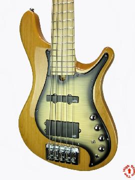 Brubaker Brute Mjx-5 String Bass Guitar New Coil Tap with Natural Gloss Finish