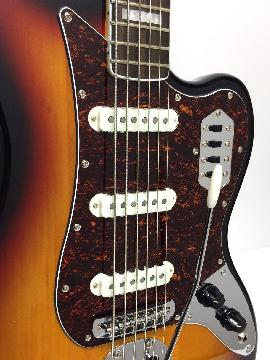 Fender Squier Vintage Modified Bass Vi 6-String Electric Bass - Sunburst