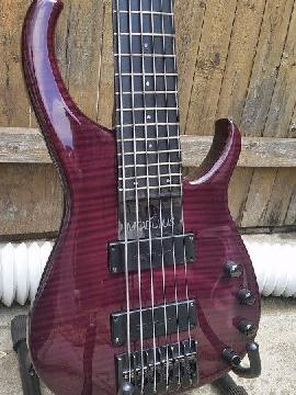 Modulus Quantum Q6 Bass with Hardshell Modulus Case Bartolini Pickups and Preamp