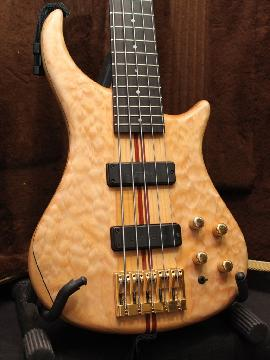 Pedulla Thunderbass Natural Quilt Maple 5-string Bass