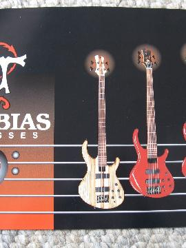 Tobias Bass Guitar Catalog Gibson era c.1999 The Classic, Growler Etc. .