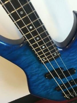 Vintage1987 Modulus four string Emg quilted maple quantum graphite