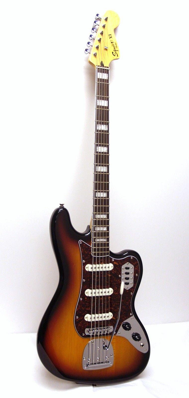 fender squier vintage modified bass vi 6 string electric bass sunburst. Black Bedroom Furniture Sets. Home Design Ideas