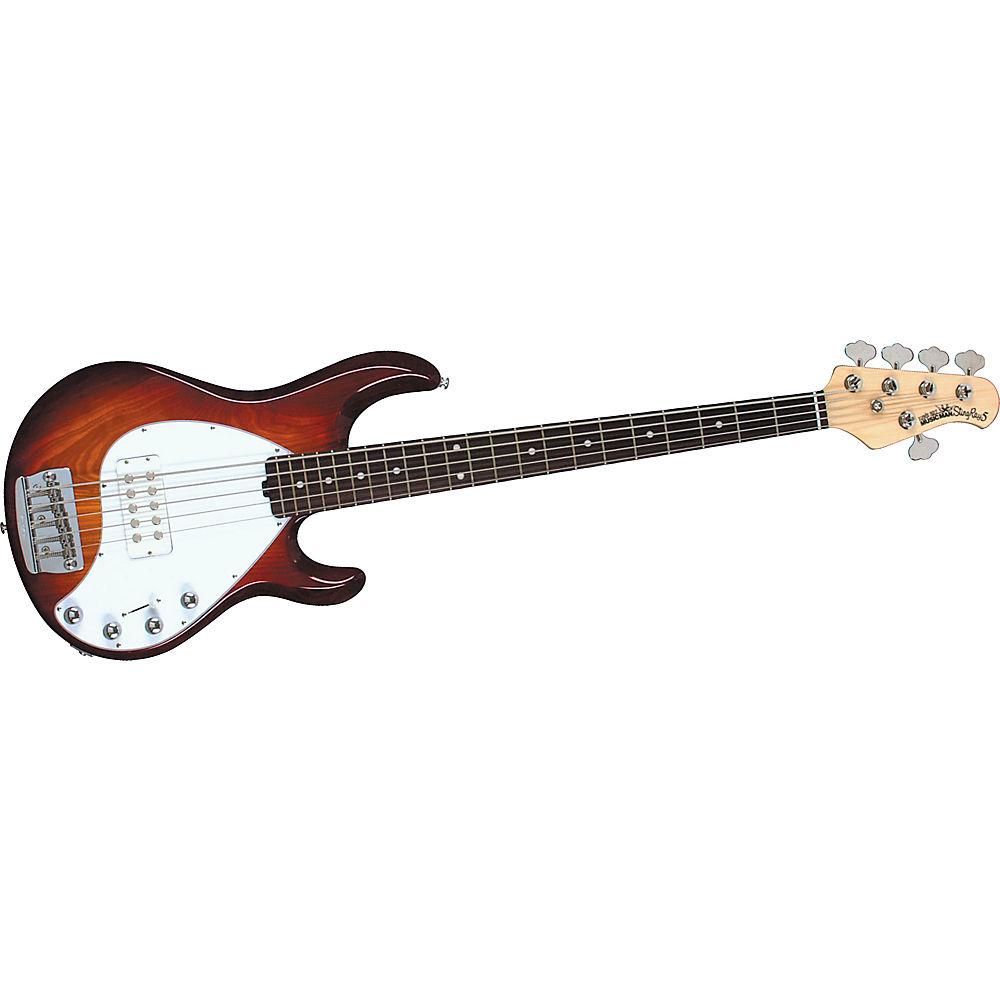 music man stingray 5 5 string bass guitar honey sunburst rosewood fretboard. Black Bedroom Furniture Sets. Home Design Ideas