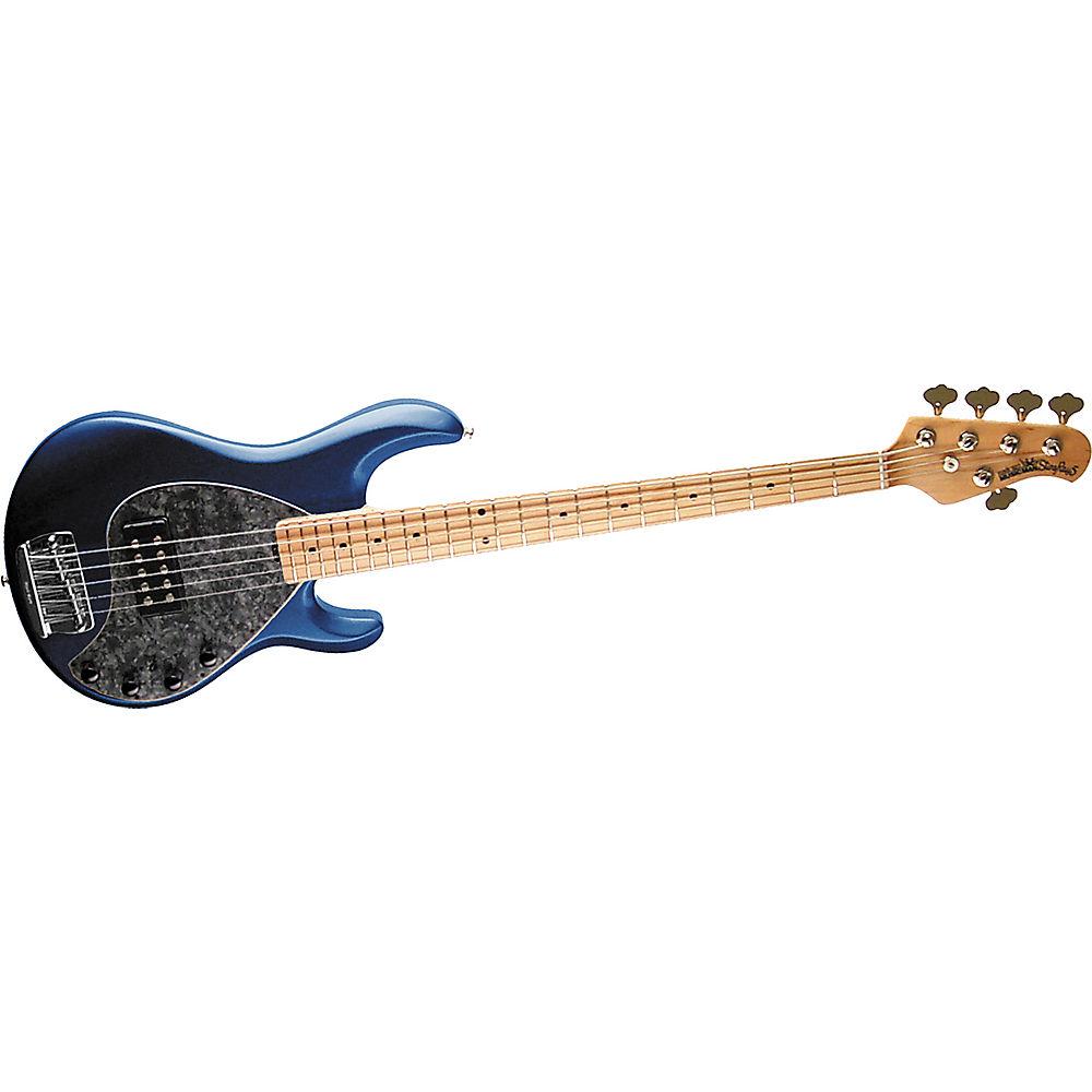 music man stingray 5 5 string bass guitar pearl blue maple fretboard. Black Bedroom Furniture Sets. Home Design Ideas