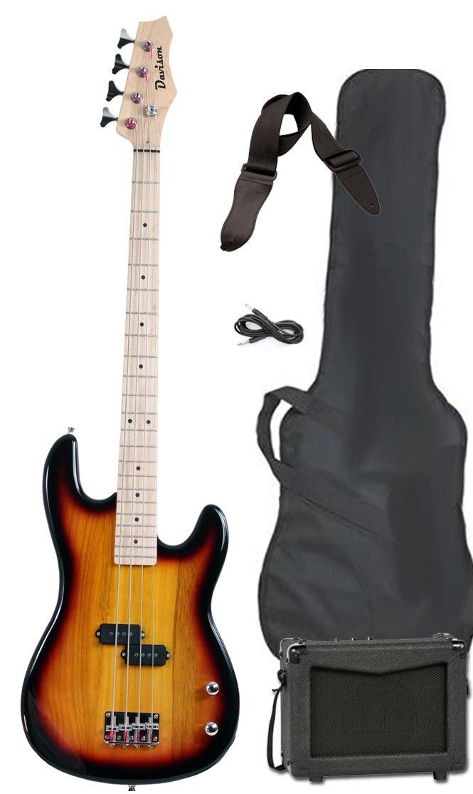 Starter Bass Guitar : new vintage sunburst electric bass guitar starter package ~ Vivirlamusica.com Haus und Dekorationen